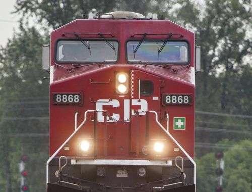 Canada Pacific hydrogen locomotive and railway