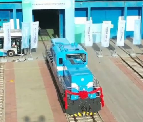 China first hydrogen-powered locomotive hit tracks