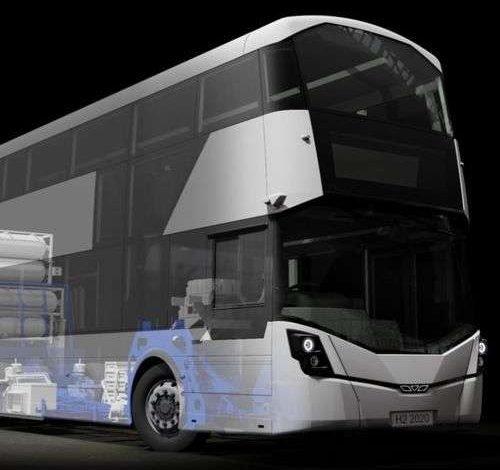The world first double-decker hydrogen buses in Aberdeen