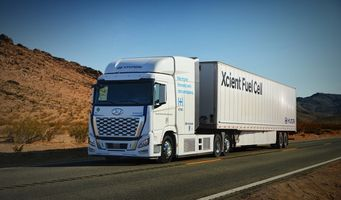 Hyundai's Xcient fuel cell on the way to California